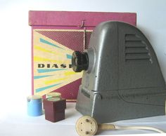 Vintage electronics. Gifts for daddy. 35mm film projector. Magic lantern. Projector. Film projector. Film strip. From poland. Bajka diascope