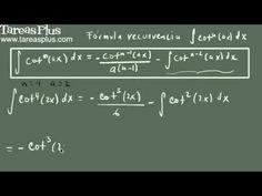 Integral de cotangente a la n (fórmula de recurrencia)