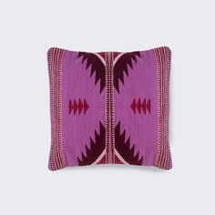 Handwoven in Mexicoby The Women of Oaxaca Strong design brought to life in vibrant colors. This pillow brings the traditional Zapotec patterns to the modern