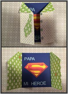Como hacer una tarjeta para papa – Pinta y Troquela