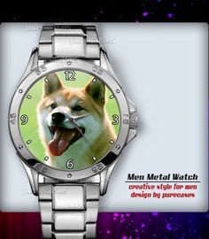 Metal Watches Shiba Dog #2 Men's Sport Watch | purecases - Jewelry on ArtFire