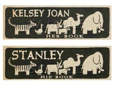 Vintage children's bookplate from etsy. My latest fascination.