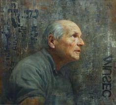 "Gallery Henoch - David Kassan, Aspiration: Portrait of Antonio Lopez, Oil on Aluminum, 21"" x 23"""