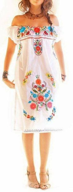 Pretty Dresses, Cover Up, Shoulder Dress, Womens Fashion, Casual, Outfits, Female Dress, Design, Summer 2015