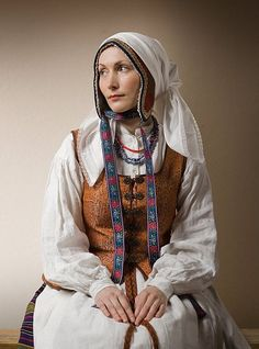 "Lithuanian traditional costume aka Prom Dress.  ""Oh, Gobi. . . . You look . . . very nice."""