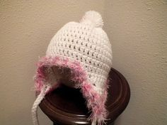 Small Cotton Candy Trimmed Flap Hat