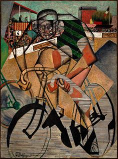 Jean Metzinger. «At the Cycle-Race Track» (1912). Guggenheim Museum.