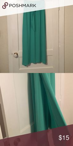 Boutique Maxi Skirt! Sea foam flowy skirt! Has slits on both sides about 1/2 way up! Great condition! Fresh Tart Skirts Maxi