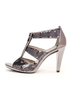 bed9583d5cd Michael Kors Berkley Sequined T-Strap Sandal