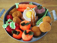 Groente en fruit schaal.