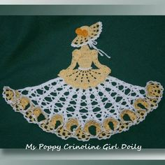 Ms Poppy Crinoline Girl Doily - SKU-0543