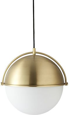 West elm globe pendant antique brassmilk finish globe pendant globe pendant light aloadofball Choice Image