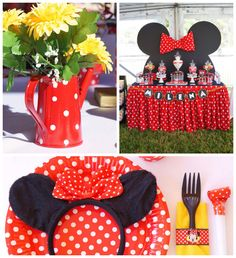 Minnie Mouse fiesta de cumpleaños temática a través de ideas de la fiesta de Kara   KarasPartyIdeas.com #minniemouse #minniemouseparty #partyideas #partystyling #eventplanner #mickeymouse (2)