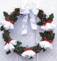 free crochet Christmas bell wreath pattern... From Mom's Love of Crochet
