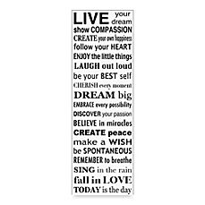 image of Live Your Dream Wall Art in White
