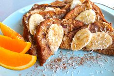 Peanut butter, banana and coconut come together for one delicious French toast breakfast!