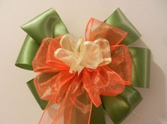 Wedding pew bows set of 12  foliage green by creativelycarole
