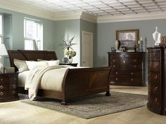 master bedroom paint colors. Dreamy blue grey walls with dark furniture  Bedroom Pinterest Dark Blue and