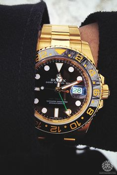 Yellow gold Rolex GMT IIc ref. 116718. More of our footage at WatchAnish.com.