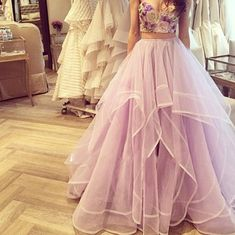 Online Dresses 2015 Two Pieces Quinceanera Dresses Real Pictures Sweetheart Neck Appliqued Tiered Lilac Tulle Ball Gowns Prom Gowns With Sleeveless Quinceanera Dresses For Cheap From Nicedressonline, $204.72  Dhgate.Com