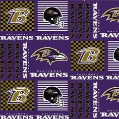 Baltimore Ravens Purple Patch Cotton Fabric by the Yard