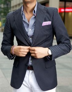 Men's style. Men's fashion - checks and stripes