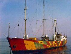 The Radioship Mebo II, Radio Noordzee International started in 1970 broadcasting on 220 mtr Medium wave.*