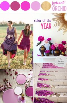 My absolute personal fave -The Perfect Palette: Radiant Orchid | Pantone's 2014 Color of the Year http://www.theperfectpalette.com/2014/02/radiant-orchid-pantones-2014-color-of.html