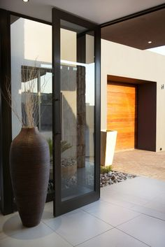 Natural looking tiles can be used indoors and outdoors and can create a beautiful and seamless indoor/outdoor flow