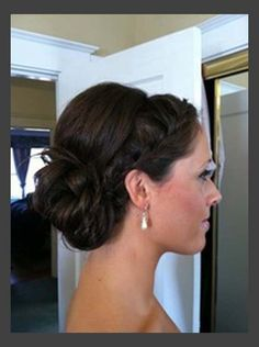 wedding updos for medium length hair photos.........this cute just to get my bangs out of the way.