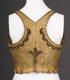 corsolet back view - love the beading and embroidered details