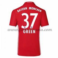 Camisetas De Futbol Bayern Munich Green 37 Primera Equipación 2016-17 La  Liga b556df210e268