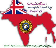 Old coins of the British Raj (1858-1947 CE) Las monedas antiguas de Raj Británico (Años 1858-1947) #BritishRaj #British #India #Pakistan #Myanmar #Bangladesh