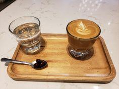My first (decent) Rosetta in a Gibraltar/Cortado! #coffee #cafe #espresso #photography #coffeeaddict #yummy #barista