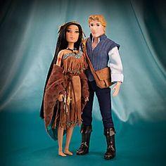 Poupées Pocahontas et John Smith de la Collection Disney Fairytale Designer
