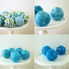 How to DIY 4 different kinds of vase filler... out of golf balls!