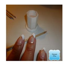 How to apply the classic French Manicure Check it Out!