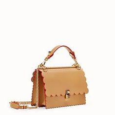 0760748065 FENDI KAN I - Brown leather bag - view 2 thumbnail  leatherbagsonline