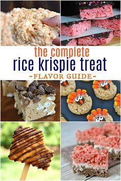 Ultimate Rice Krispie Treat Flavor Guide