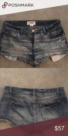VS PINK Bling shorts 💋offers welcome Euc. PINK Bling denim shorts. PINK Victoria's Secret Shorts Jean Shorts