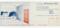 Blotter, Bruynzeel's éépaneel's deur, februari 1939, 1939