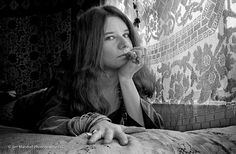 Janis Joplin, pictured on her bed in her apartment on Lyon Street in December 1967, is one of many legendary stars to allow intimate access to photographer Jim Marshall, who preferred candid photos to staged shots as he followed the musicians through their lives