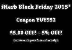 iHerb Coupon - Black Friday 2015 | High Score Blog #BlackFriday2015 #BlackFriday #deal #deals #shopping #coupon #coupons First Order, Scores, Coupon Codes, Black Friday, Coupons, It Works, Coding, Blog, Shopping