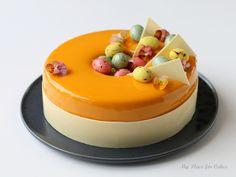 Glazekage med havtorn og chokolade – Påskekage Patisserie Design, Love Cake, Holiday Recipes, Panna Cotta, Cake Decorating, Sweet Tooth, Bakery, Sweets, Easter Ideas