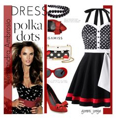 """""""Alessandra Ambrosio - Model Style"""" by goreti ❤ liked on Polyvore featuring RED Valentino and vintage"""