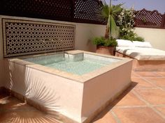 Interior of Riad Romm& Marrakech, Morocco Small Backyard Pools, Small Pools, Riad Marrakech, Marrakesh, Door Gate Design, Mini Pool, Backyard Furniture, Plunge Pool, Dream Pools