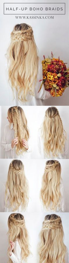 boho hair style step by step