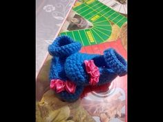 Zapatos Para bebe en Crochet de 0-3 Meses - YouTube