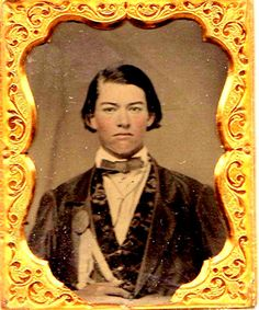 Young man with secessionist ribbon. 1860s.