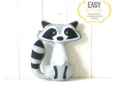 Fox Stuffed Animal Pattern Felt Hand Sewing by LittleSoftieShoppe